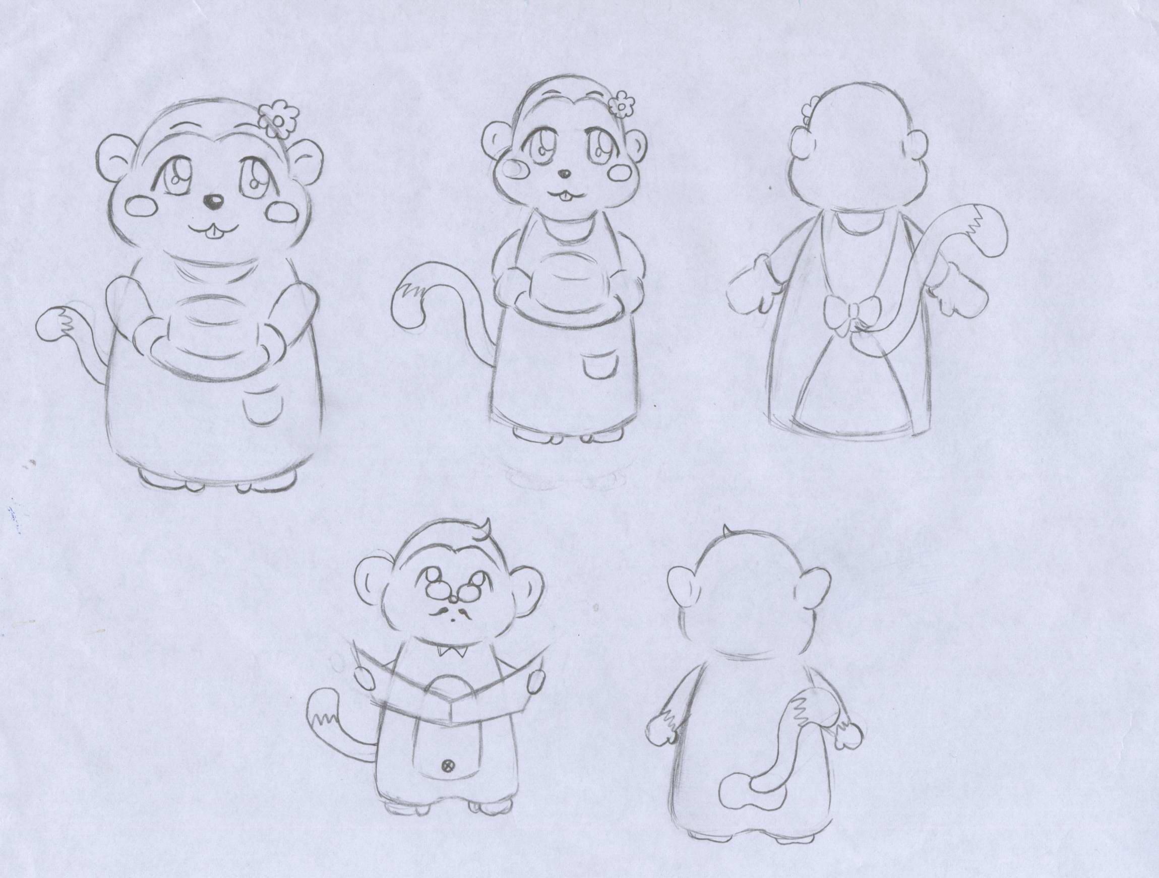 猴子的卡通形象设计
