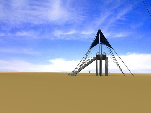 此任务客户追加奖金至1068元,请大家及时关注: 高度20米,放在盐湖岸边,主要用来登高观赏盐湖日出、日落、卤水等,盐湖四周地势平坦,湖面宽广,没有山、障碍物等,视野开阔。塔所用材料不限,主要供游客观光风景。盐湖照片在任务卤水边用盐铺沙滩设计任务附件中有  200742095455_01.