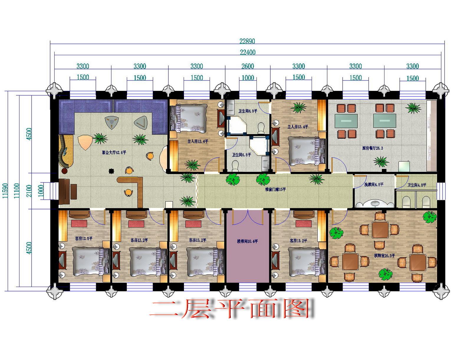 68平楼房平面图