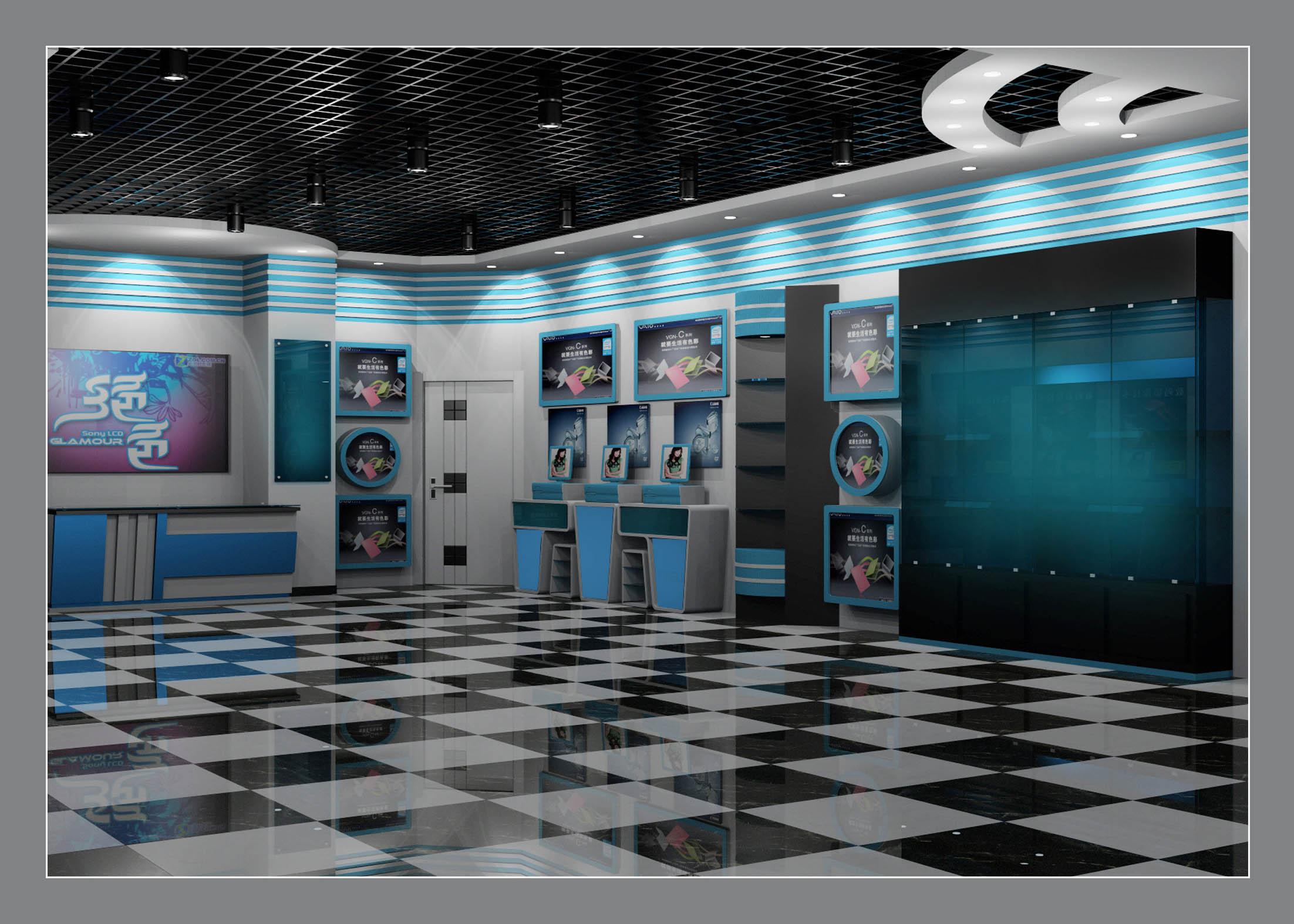 数码公司室内外装修效果图设计