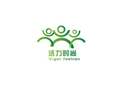 """""""活力时尚""""健身俱乐部的logo设计图片"""