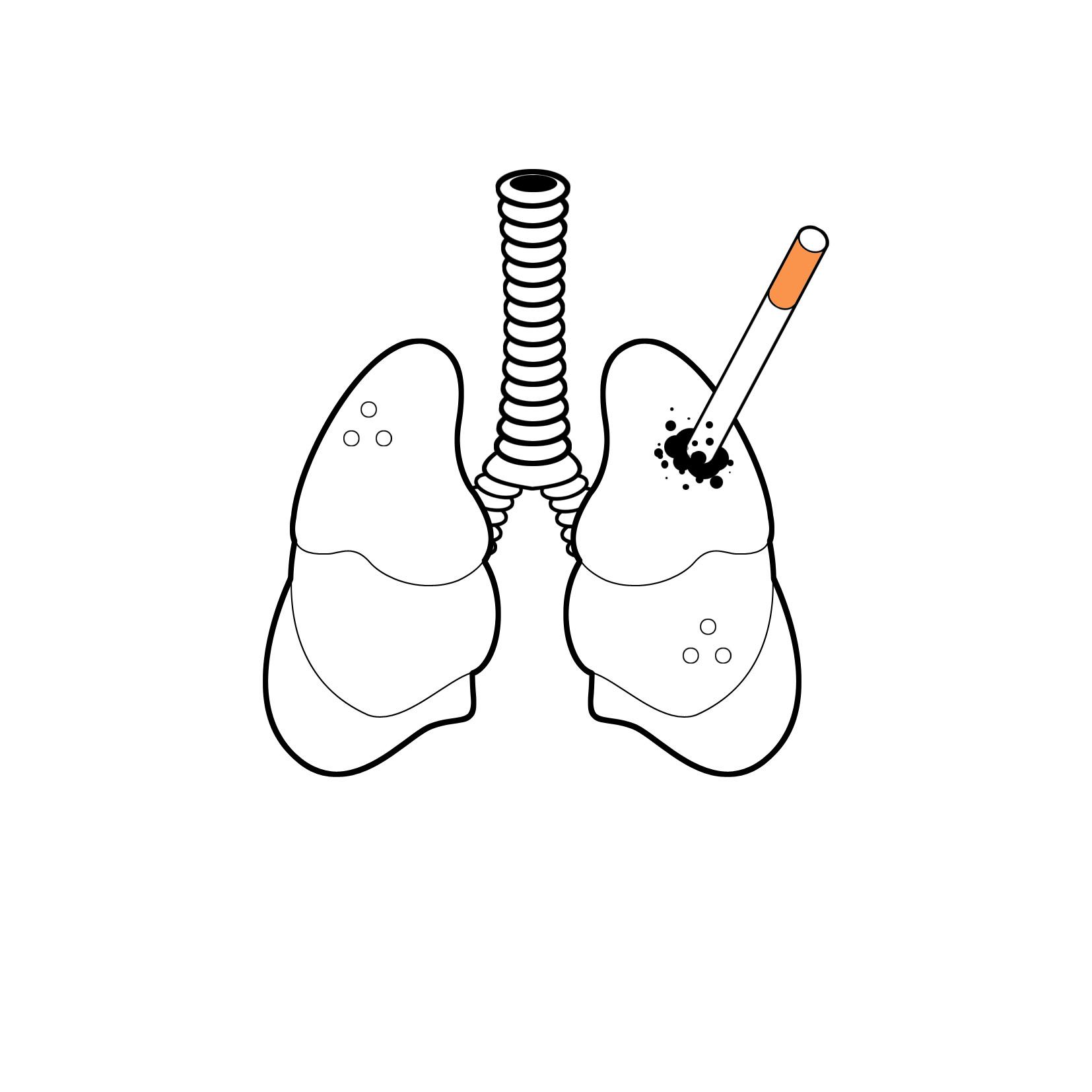 戒烟手绘简单图
