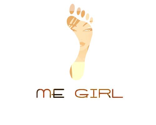 me girl時尚女鞋logo設計