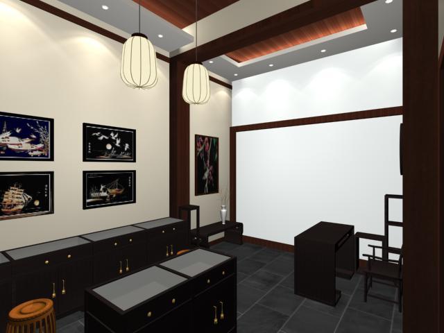 特色旅游工艺品18平店铺室内装修设计图片