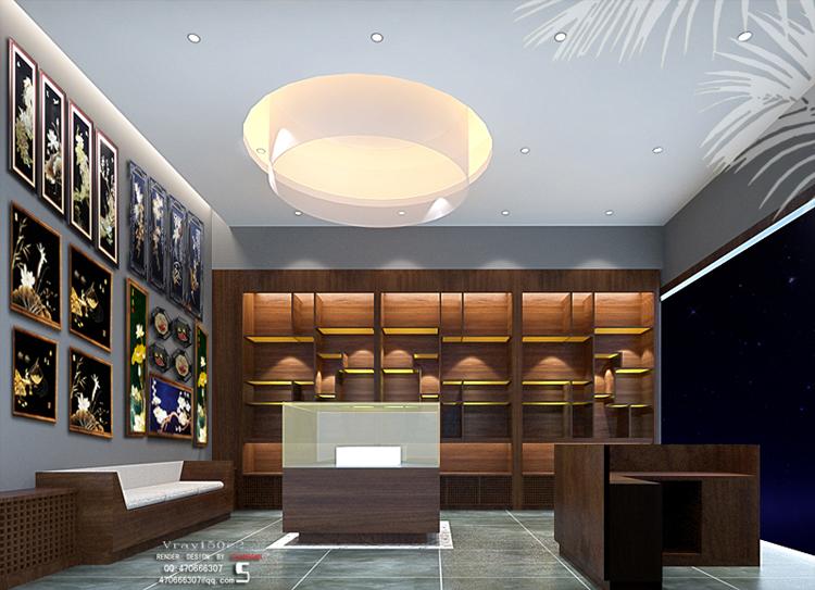 特色旅游工艺品18平店铺室内装修设计