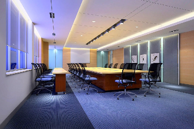 现金力天科技办公楼内部效果图设计
