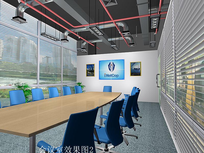 力天科技办公楼内部效果图设计
