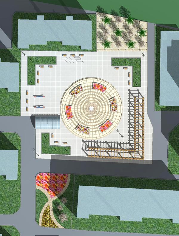 小区休闲广场设计