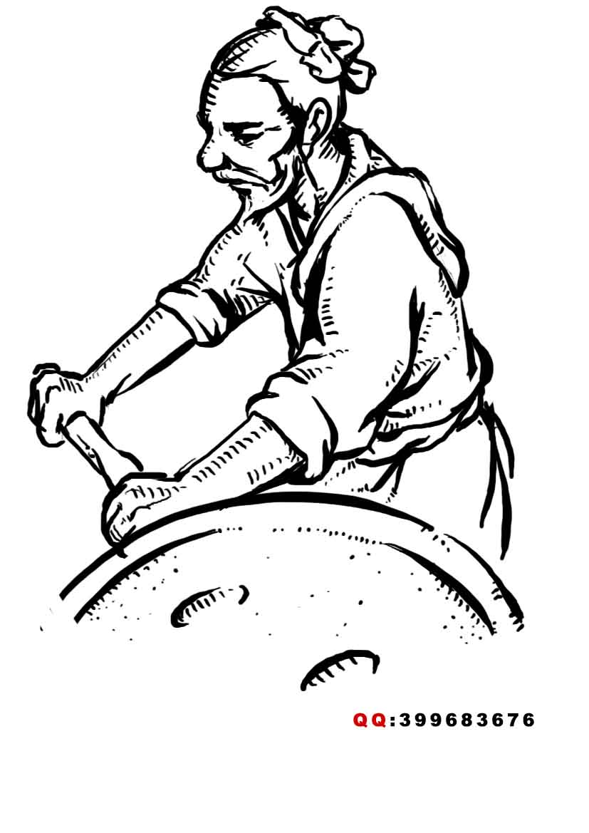 公主的碗稿件_设计一个图片(古代老农民形象)_K68