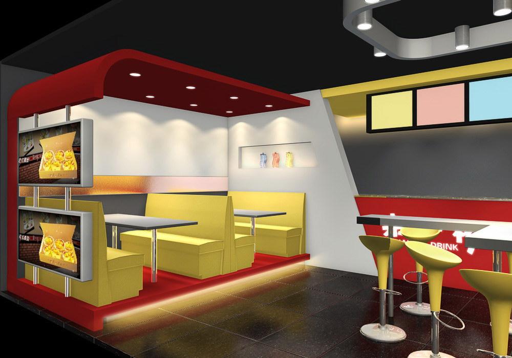 奶茶连锁店,征集效果设计图及施工图