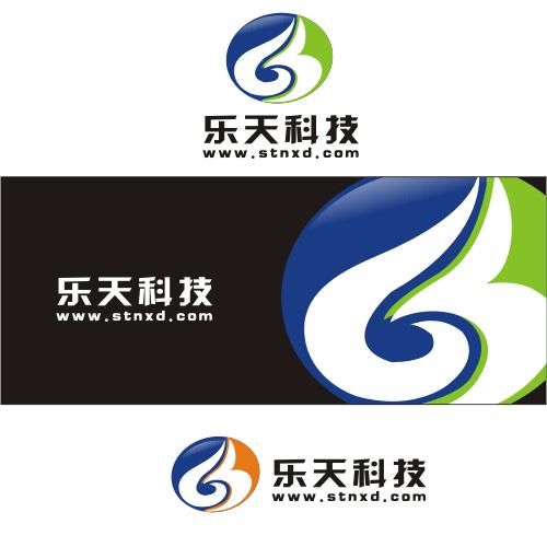 乐天科技网站LOGO 名片 广告牌匾设计