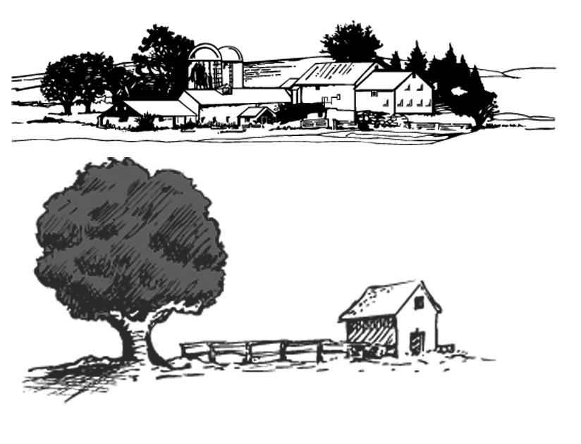古代庭院矢量图