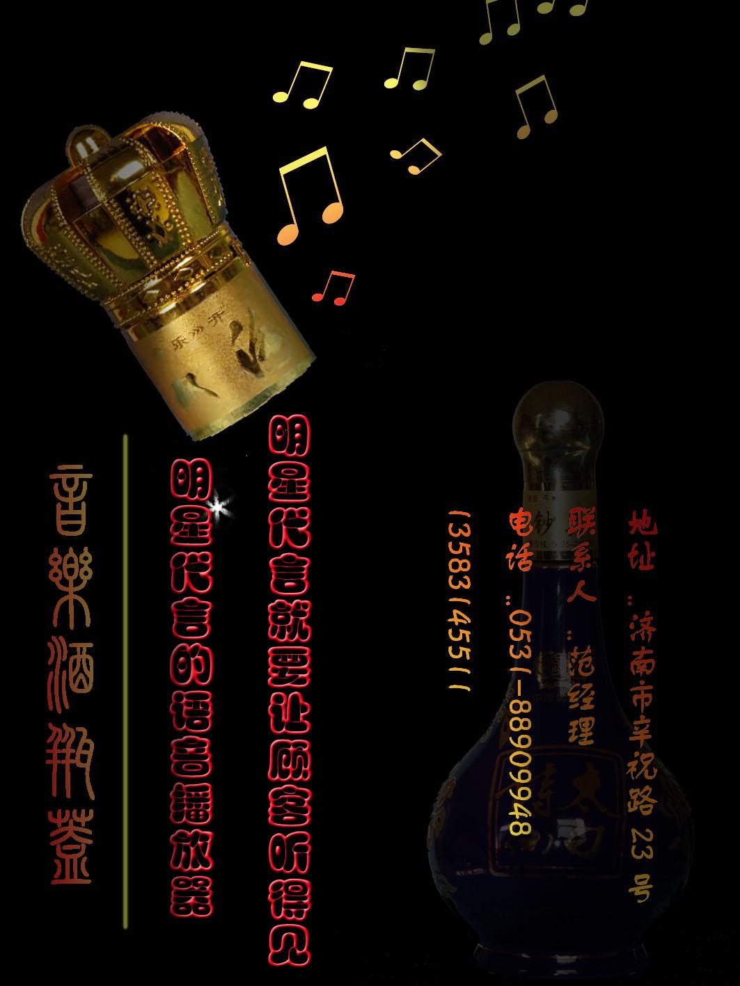 音乐酒瓶盖杂志广告设计