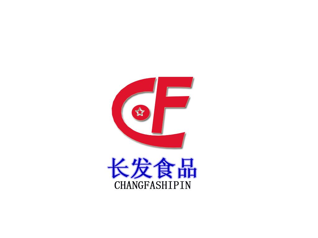 长发食品logo名片设计