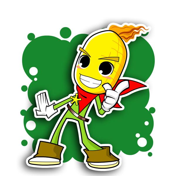 收获玉米儿童画