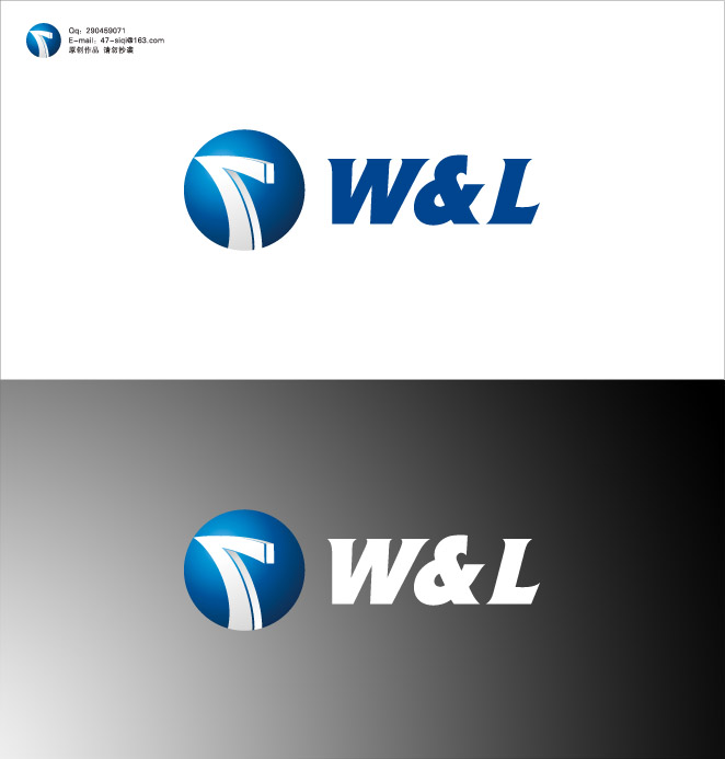 w&l贸易公司logo设计