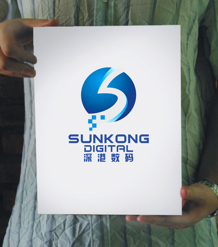 深港数码公司logo/名片/牌匾设计